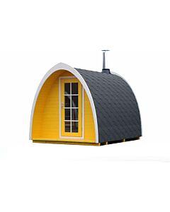 SaunaPod Herbert 2.6m Vordach 1-Raum