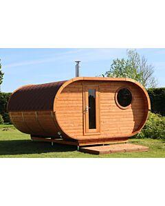 Oval Sauna Jeppe Vordach